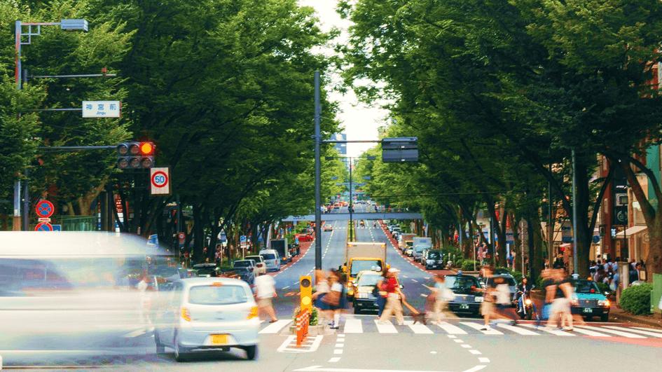 神宮前の交差点