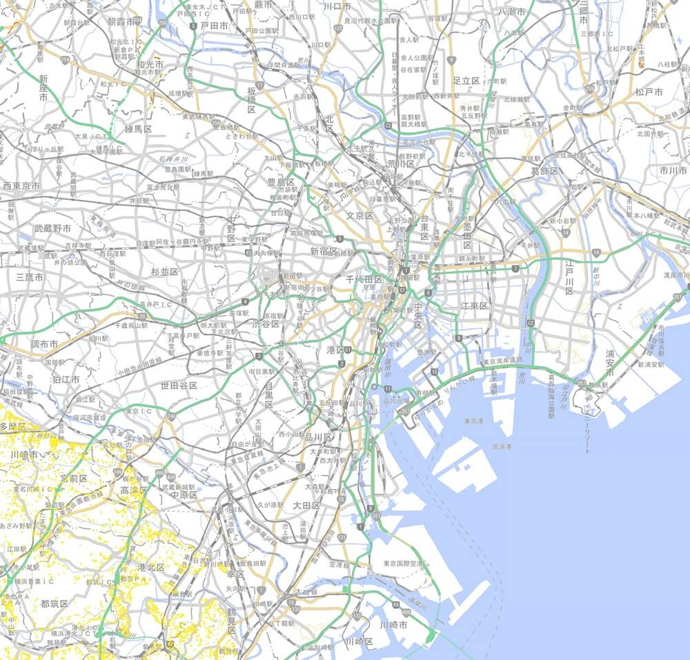 東京23区-土砂災害マップ