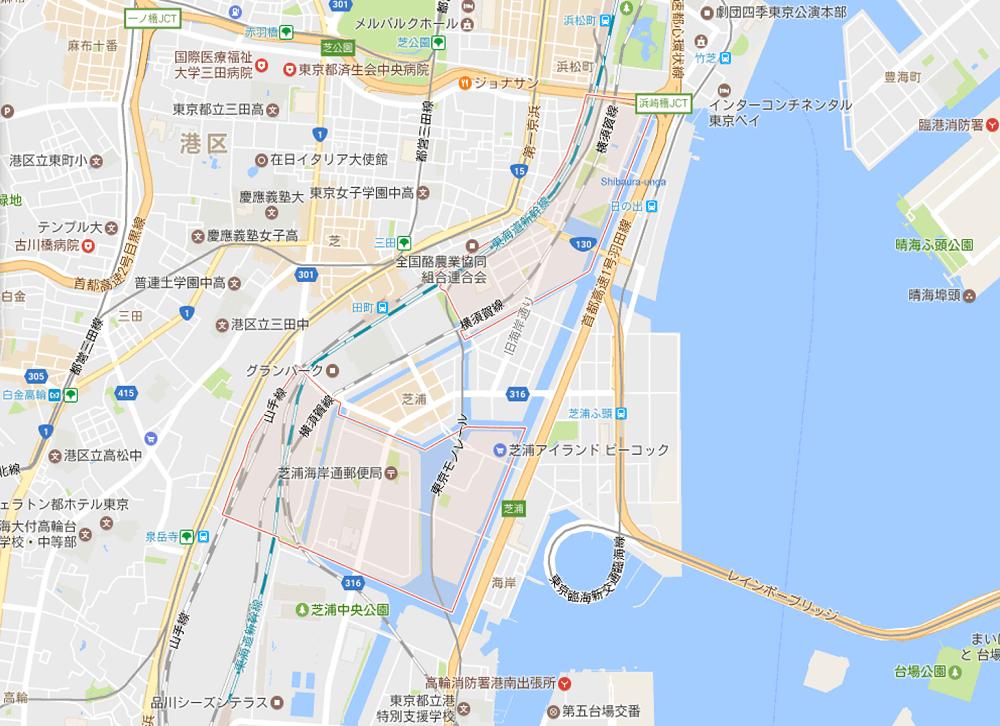 港区で人口が増えている町