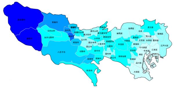 東京の人口予測_増減マップ_年齢別_30代