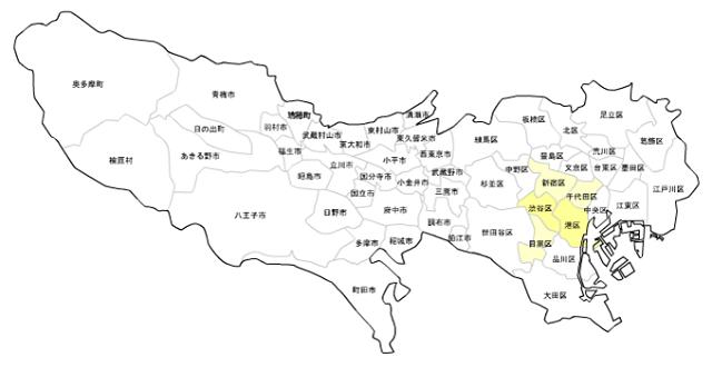 東京23区・市町村_住んでる外国人の割合_ヨーロッパ