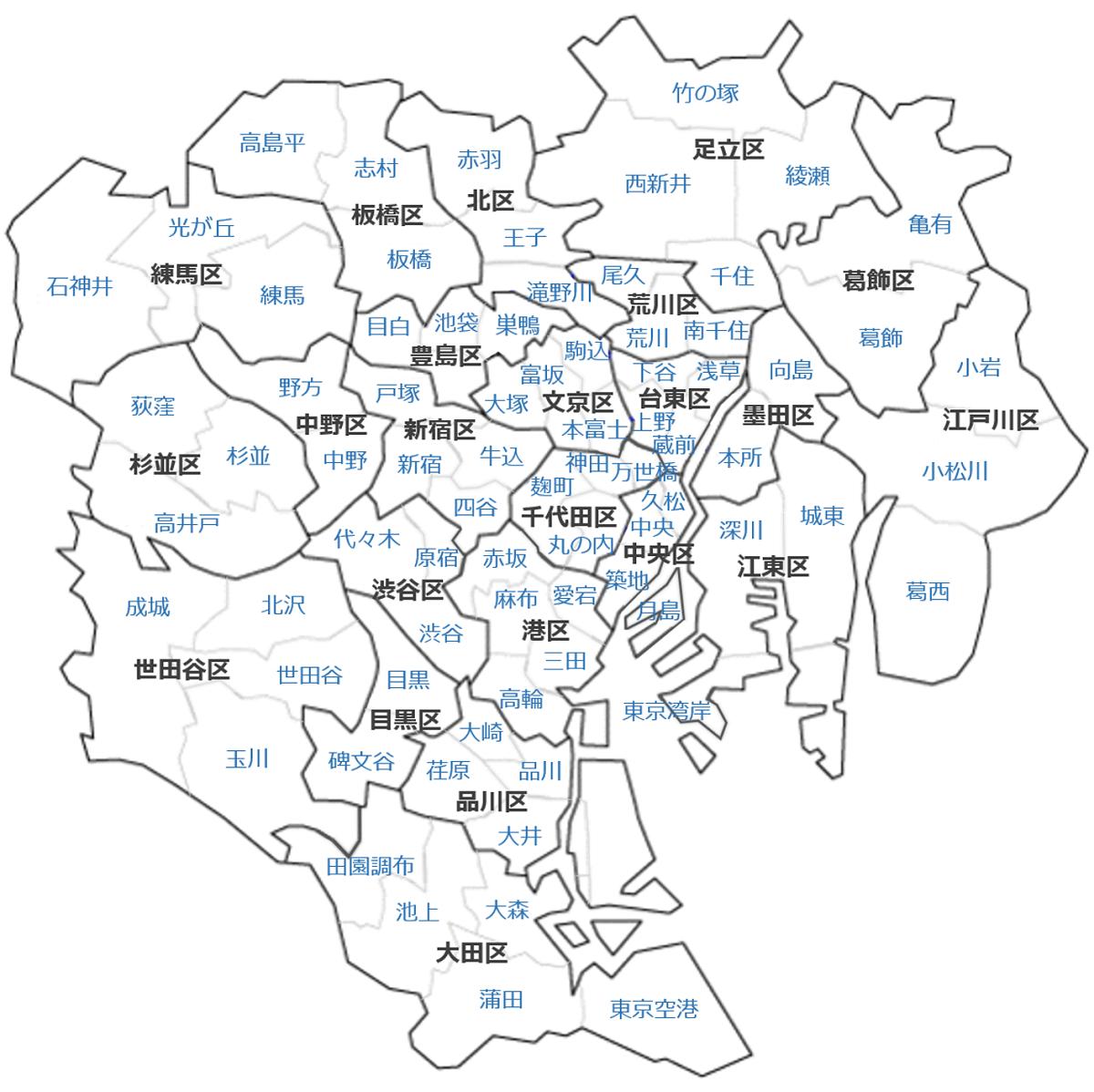 東京23区_77地域分け