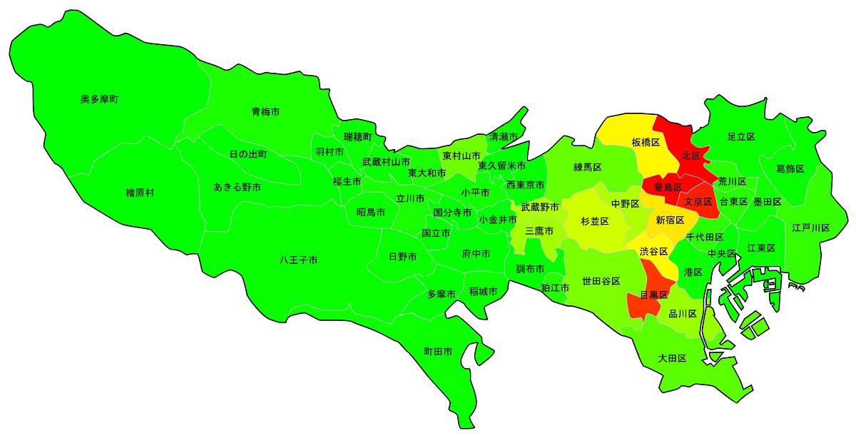 東京23区・市町村_水害リスク浸水マップ