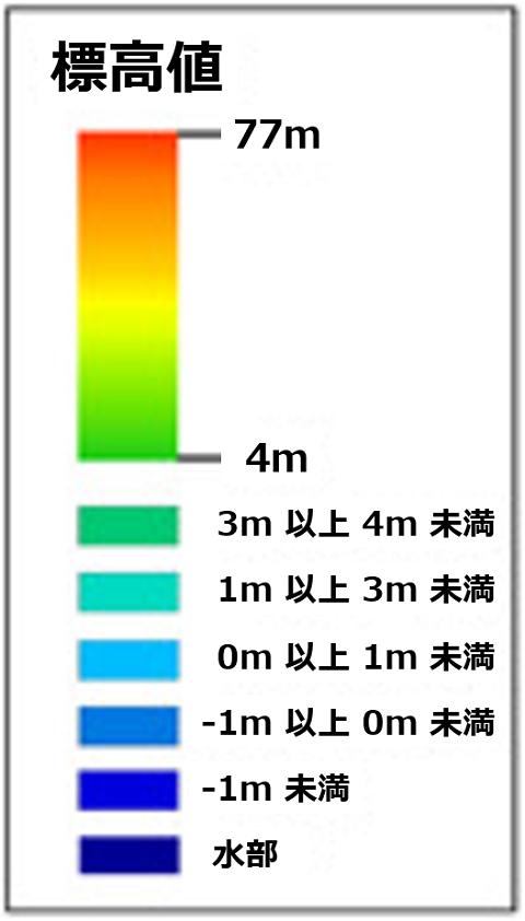東京23区_海抜マップ_凡例