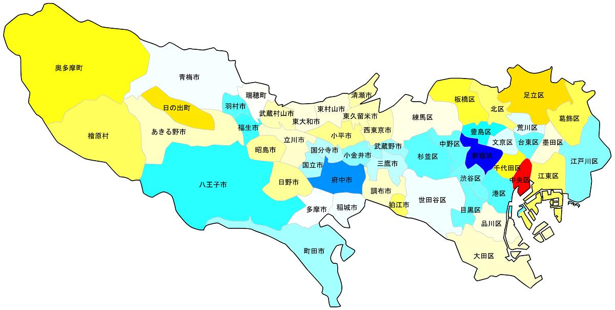 東京23区・市町村_住みやすい街マップ