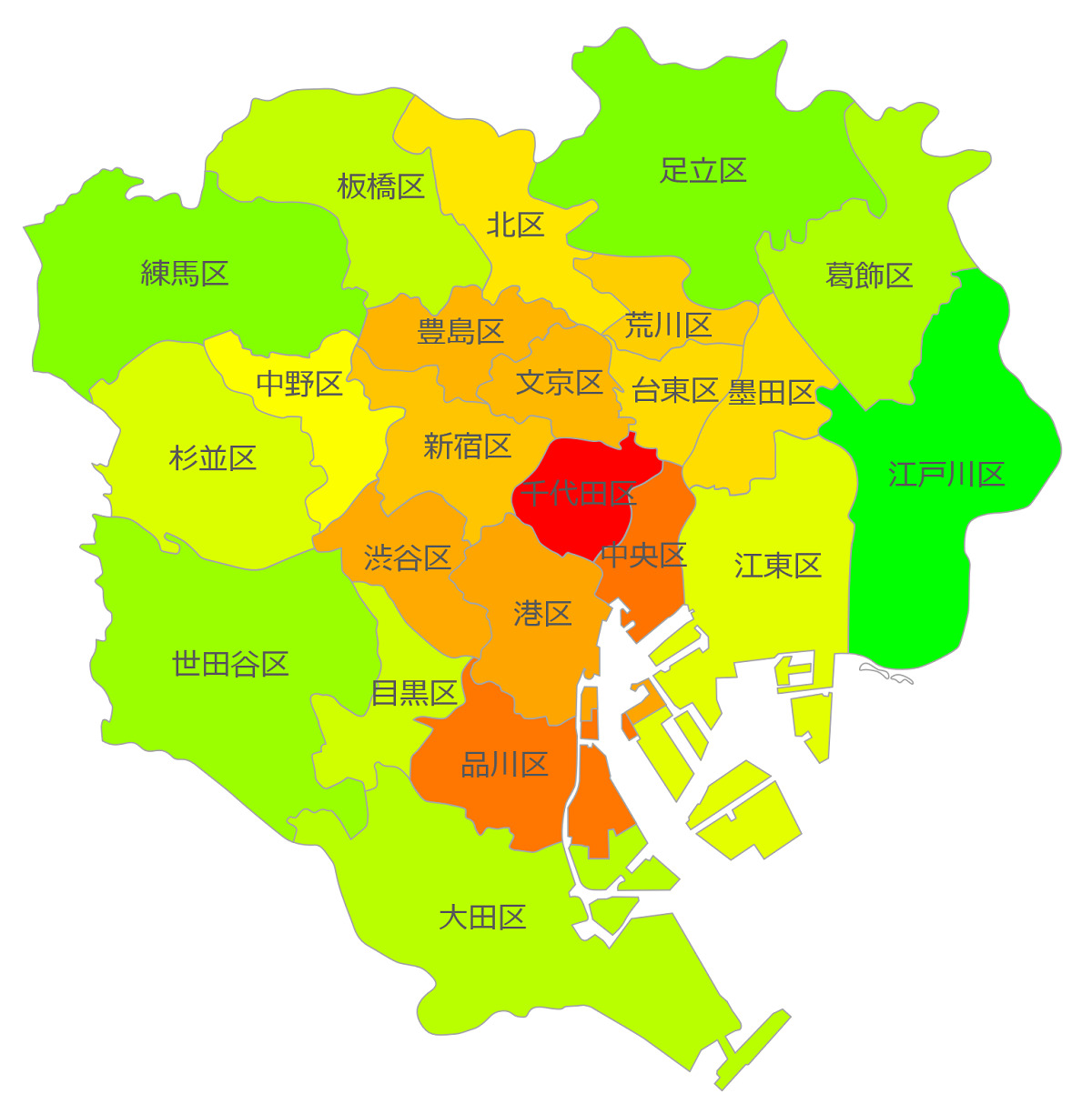 東京23区の共働き率_子供が未就学児
